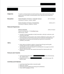 Resume For No Work Experience Resume Example No Work Work Experience