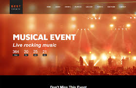Event Website Template Fascinating Best Event Management Website Template Free Download