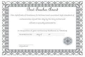 Best Teacher Certificate Templates Free Certificate Of Best Teacher 3 Free Printable Award Certificates