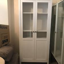 hemnes ikea cabinet with panel glass door white stain good condition