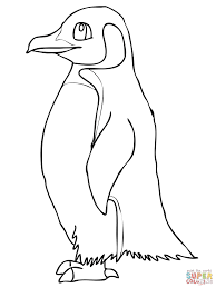 Small Picture King penguin with a bow tie coloring page Free Printable