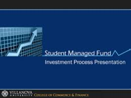 David Nawrocki  Ph   Villanova University Final Presentation De   Villanova Student Managed Fund