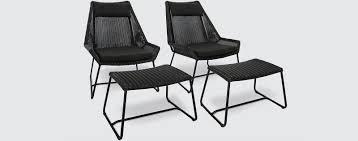 wanaka aluminium patio chairs footstools