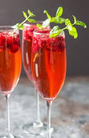 raspberry chagne rum punch