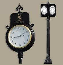 multiple sided golf course clocks