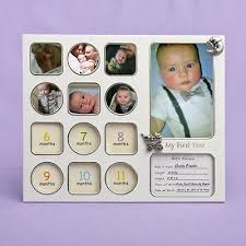 baby collage frame my first year baby photo picture collage frame baby shower gift 12