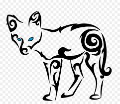tribal fox drawing. Modren Fox Drawing Celtic Knot Clip Art  Cool Tribal Fox Designs To Draw In O