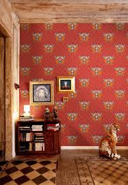Red Yellow Wallpaper. Decoration: Bright Modern Floral Wallpaper -  Geometric Wallpaper  Illustrative Wallpaper Design