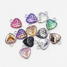 <b>5 pcs</b>/pack <b>Stainless Steel</b> Heart Shape Charms with One Side ...