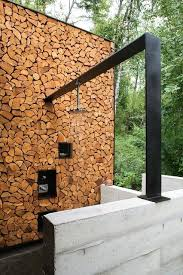 outdoor wood rack outdoor firewood rack patio rustic with concrete block wall concrete wall firewood firewood