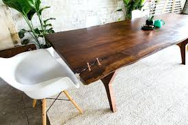 live edge wood dining table modern furniture the live edge walnut copper slab live edge wood
