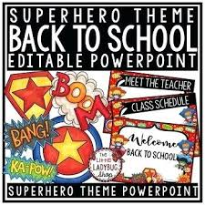 Open House Powerpoint Superhero Back To School Open House Meet Teacher Template
