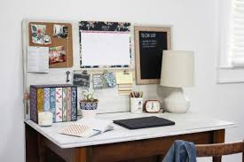 diy home office desk with wall organizer system and vine style books