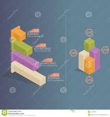 Infographics Bar Charts Stock Vector Illustration Of