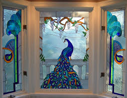 custom faux stained glass window