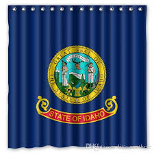 2019 idaho states flag seal design shower curtain size 180 x 180 cm custom waterproof polyester fabric bath shower curtains from littemanthree