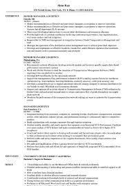 Logistics Management Resume Logistics Manager Resume Customer Service Sample Samples