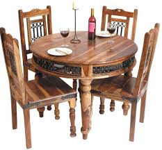 dining chairs set of 4. Buy Jaipur Jali Sheesham Round Dining Set With 4 Chairs 100cm Regard To For Idea 18 Of