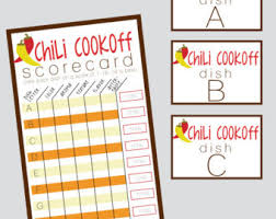 chili cook off judging sheet chili cookoff printables digital invitation voting