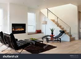 Upscale Living Room Furniture Modern Luxury Living Roomhorizontal Shot Modern Stock Photo