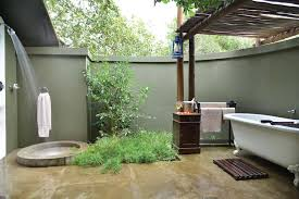 Outdoor Bathroom Tent Luxury Tents Falaza Game Park Spa