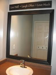 Bathroom Framed Mirrors Framed Mirror Blue Cricket Design