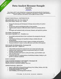 Data Analyst Resume Summary Delectable Data Analyst Resume Sample