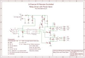 channel ir relay controller schematic in pdf