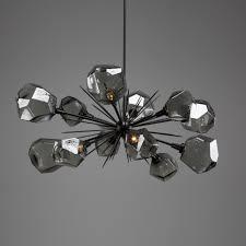rp hand blown glass chandelier new gem oval starburst