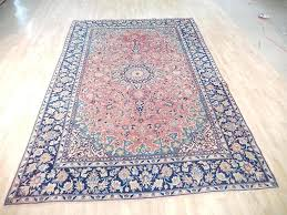 hurry 7x11 rug hand knotted persian semi antique wool red najaf