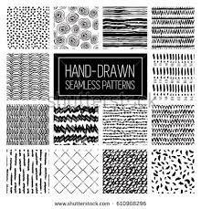 Patterns To Draw Beauteous Vector Hand Draw Abstract Patterns Backgrounds Stock Vector Royalty
