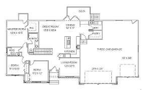 image of ranch house plans with walkout basement designs