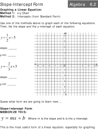 graph each of the following equations then list the slope and the y