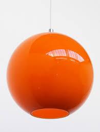 1960s lamp shades orange large glass shade globe 30cm 1960 s retro 8
