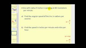 linear velocity and angular velocity