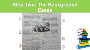 daniel parent social studies curriculum specialist ppt video  step two the background essay