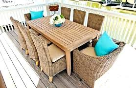 wicker outdoor dining set. Outdoor Wicker Dining Chairs Furniture Teak Set Table With N