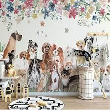 3D Creative Dog Animal Wallpaper Mural ...