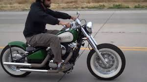 kawasaki vulcan 800 bolt on bobber kit ride youtube