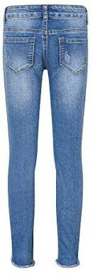 <b>YUKE Girls</b> Skinny Jeans Denim Distressed Ripped Hole Fashion ...