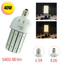 Outdoor Led Flood Light Bulbs 250 Watt Equivalent 40w Led Corn Light Bulb Large Mogul E39 Base 6000k