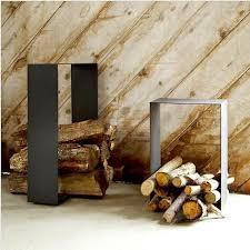 Modern firewood holder worthy of display! Firewood Holder designed and made  by Roy Hardin