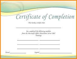 Download Job Completion Certificate Sample Bes Download Job