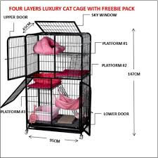 <b>Free Delivery</b> for Metro Manila Four Layers <b>Luxury big</b> Cat Cage Cat ...