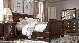 cherry wood bedroom set. Whitmore Cherry 6 Pc Queen Sleigh Bedroom Sets Dark Wood Set