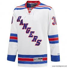 reebok men hockey nhl new york rangers premier jersey blue red white d19379