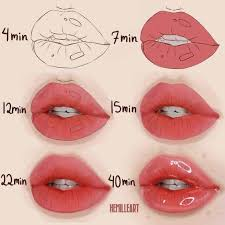 30 how to draw lips for beginners