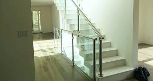 glass stair railings cost