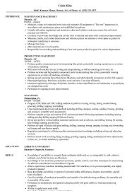 Machinist Resume Examples Machinist Resume Samples Velvet Jobs 2