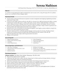 Project Manager Resume Objective Sample Resumes Construction